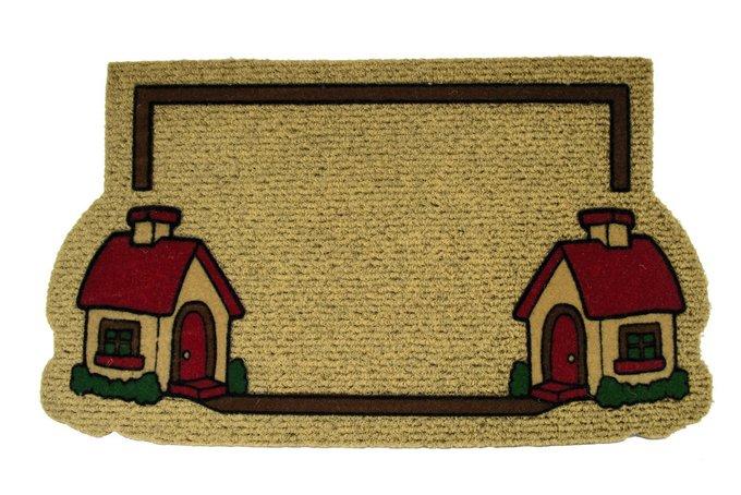 Придверный коврик светло-коричневого цвета 40х70