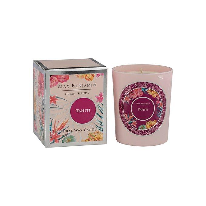 Ароматическая свеча Tahiti розового цвета