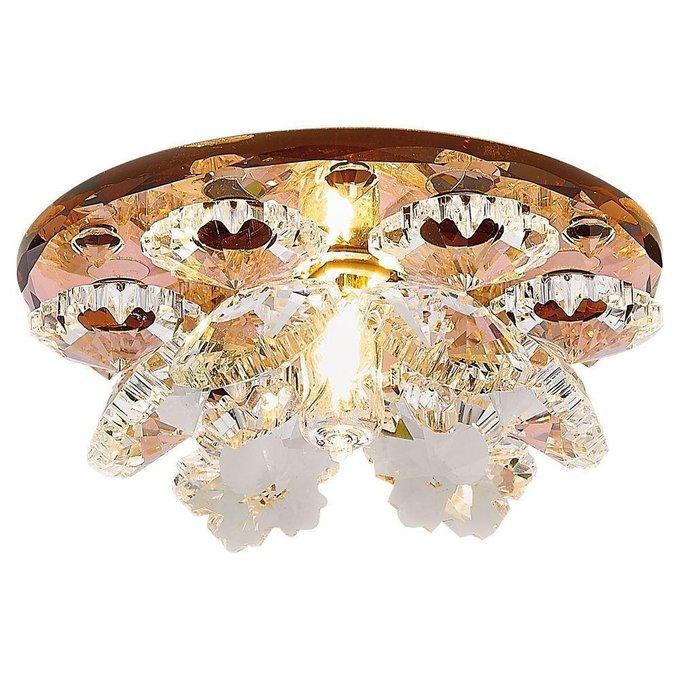 Встраиваемый светильник Crystal коричневого цвета