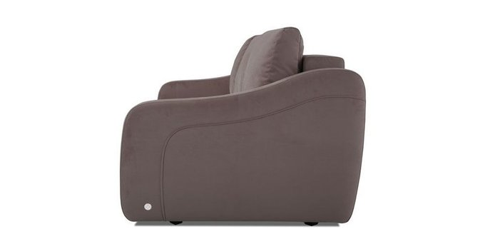 Прямой диван-кровать Иден темно-коричневого цвета