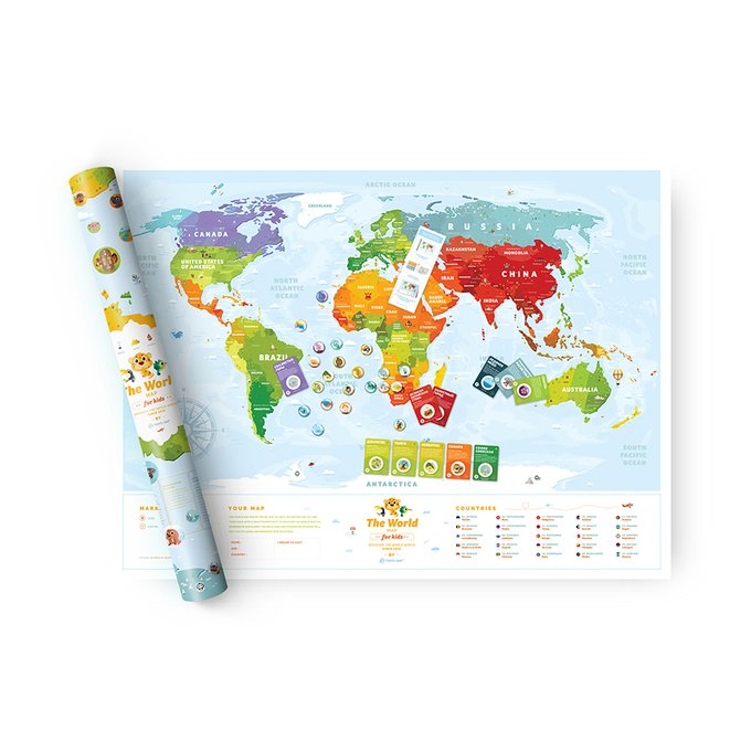 Карта travel map kids sights