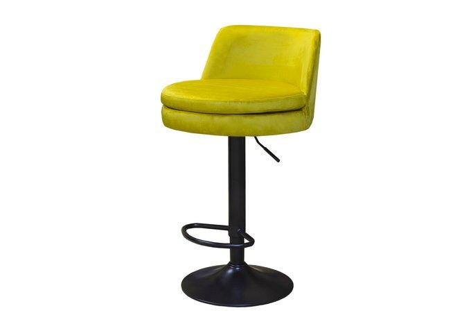Барный стул Banabarre вращающийся с регулируемой высотой салатового цвета