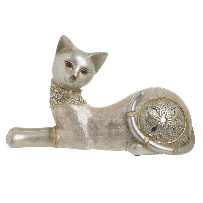 Статуэтка Кошка золотого цвета