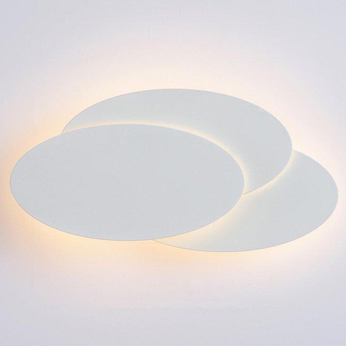 Настенный светодиодный светильник Trio белого цвета