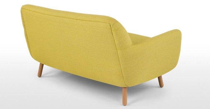 Диван Jonah двухместный желтого цвета