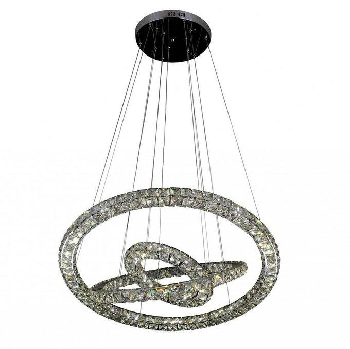 Подвесной светодиодный светильник Тор-Кристалл с хрустальными плафонами