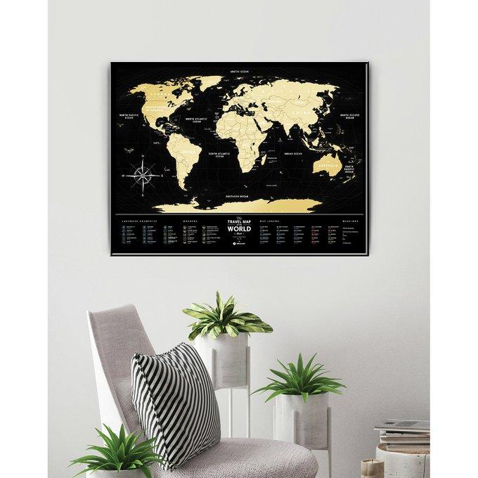 Карта travel map black world