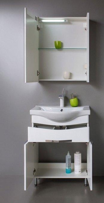 Зеркальный шкаф Latte 60 белого цвета