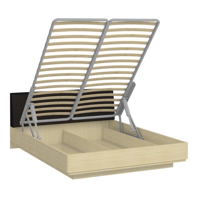 Кровать Элеонора 160х200 с изголовьем черного цвета с подъемным механизмом