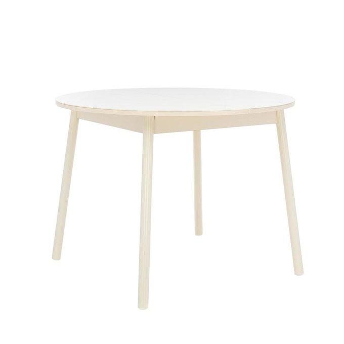 Стол обеденный раздвижной Мидел  кремового цвета