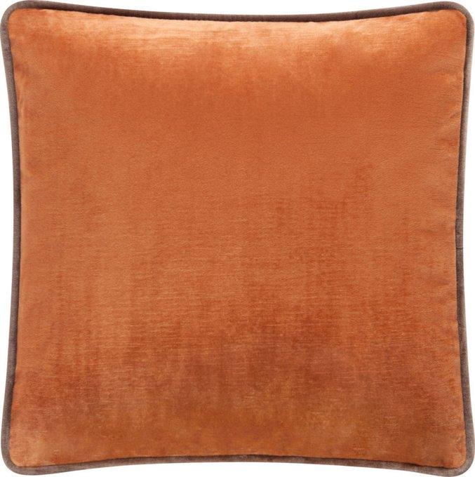 Подушка с обивкой из оранжевой ткани