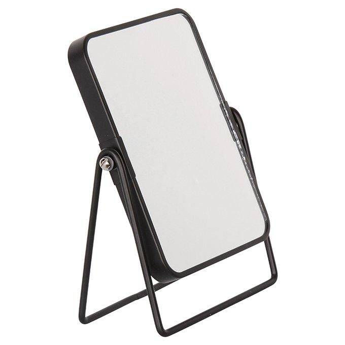Туалетное зеркало Doppio черного цвета