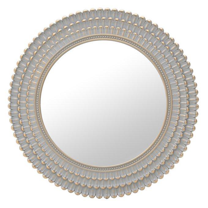 Настенное зеркало в раме из искусственного камня