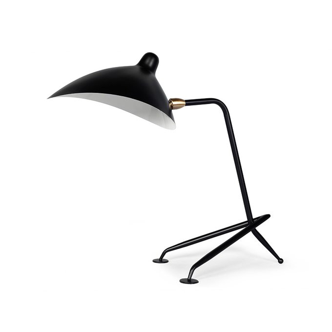 Лампа настольная Sconce Mouille черного цвета