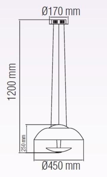 Подвесной светодиодный светильник Vista черного цвета
