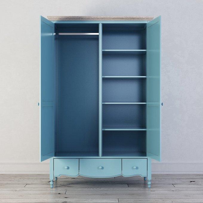 Шкаф двухстворчатый Leblanc голубого цвета