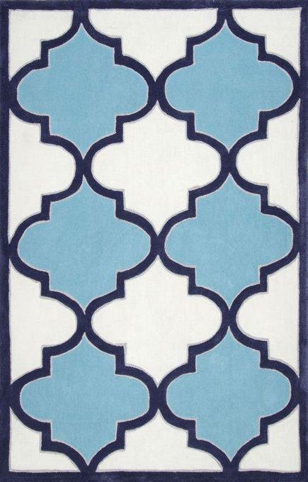 Ковер RUGSBE Marrakech white blue 140х200 см