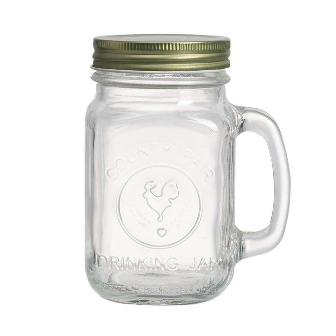Кружка с крышкой Bormioli Rocco Drinking Jar