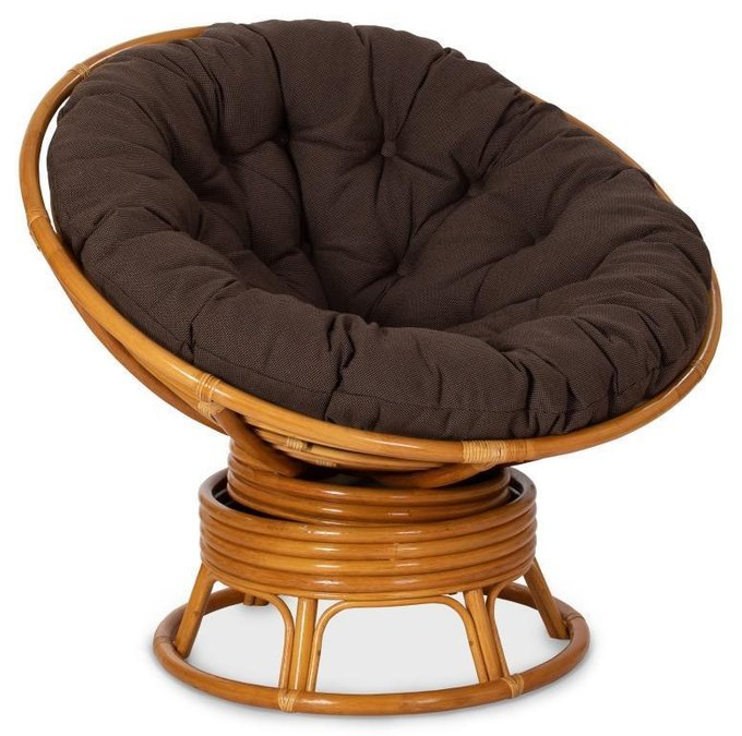 Кресло механическое Papasan с каркасом из натурального ротанга