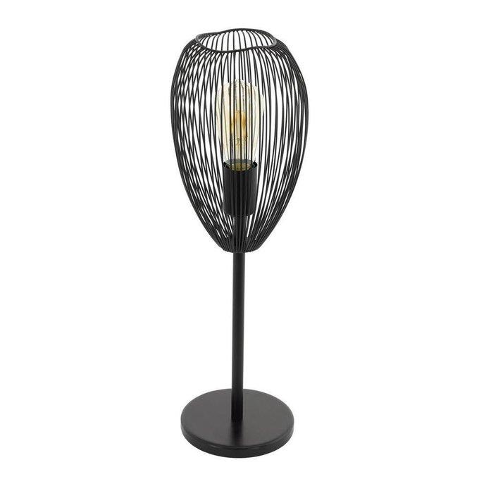 Настольная лампа Clevedon черного цвета