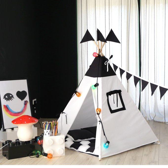 Вигвам для детей с окном и карманом Black&White