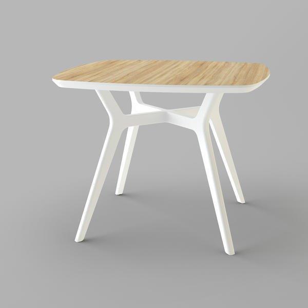 Стол Unika Lars 100x100 дуб