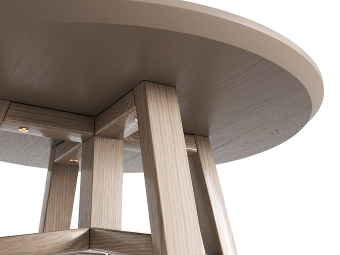 Журнальный стол Mack осветлённый дуб / бежевый