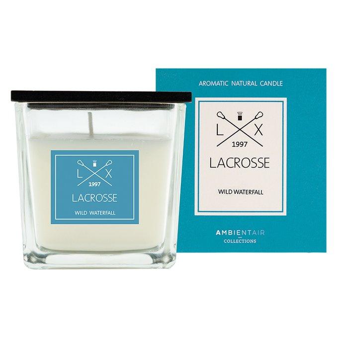 Ароматическая свеча в стекле «дикий водопад» Ambientair lacrosse 8х8 см