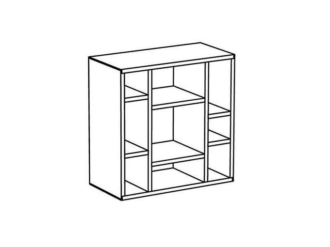 Полка Cubo цвета венге