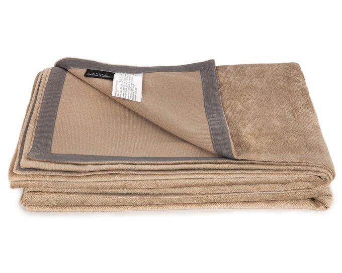 Покрывало Uno Lofty Taupe 140х210 коричневого цвета