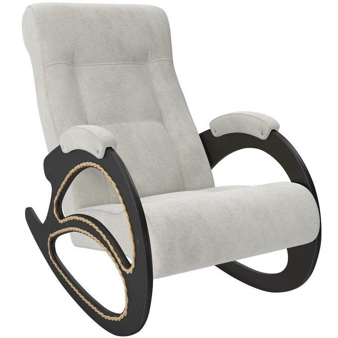 Кресло-качалка модель 4 с отделкой из лозы VeronaLightGrey/venge