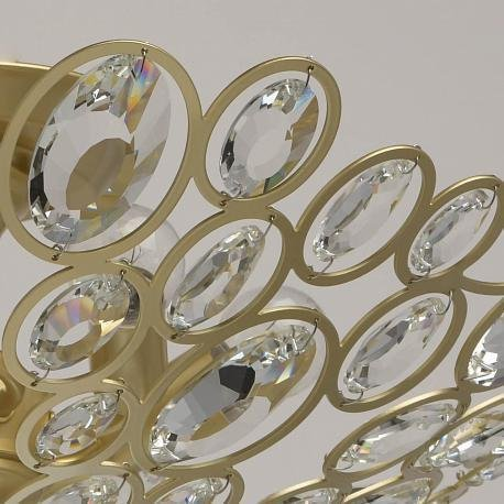 Потолочный светильник Лаура 6 с хрустальными элементами