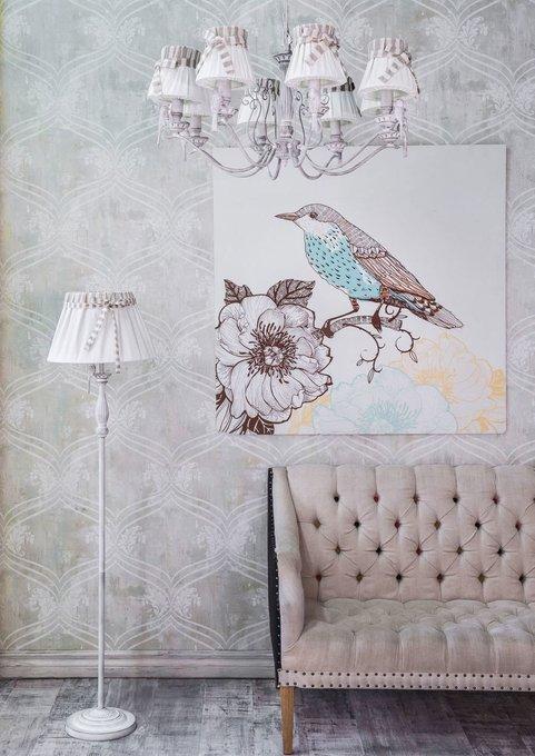Люстра Bird с льняными абажурами
