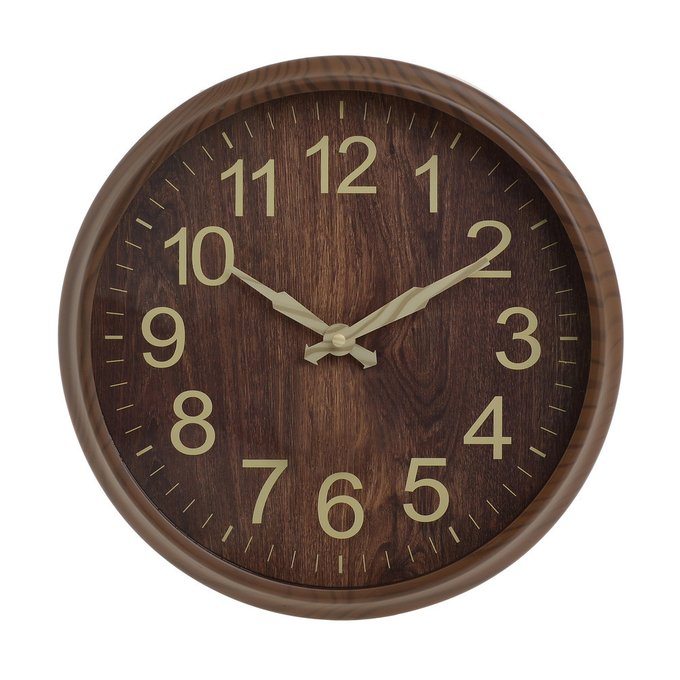 Часы настенные темно-коричневого цвета