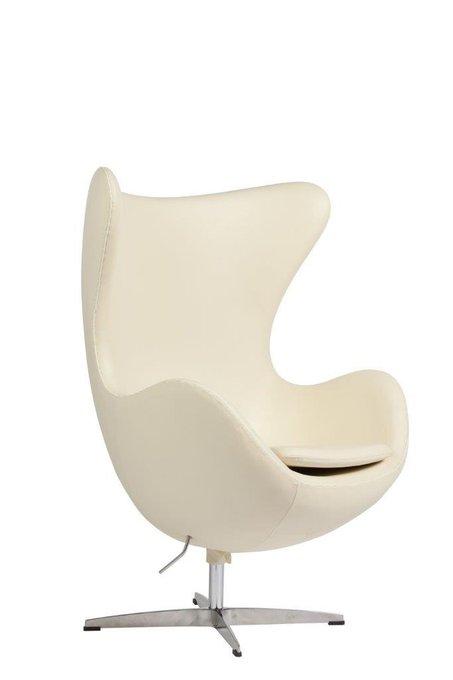 Кресло Egg Chair Cream Premium Leather