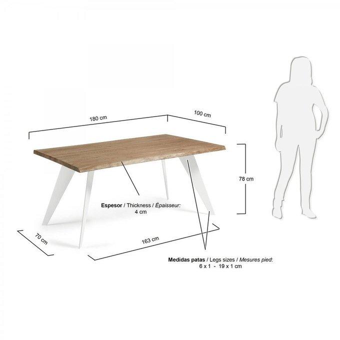 Обеденный стол Julia Grup NACK из античного дуба и металла