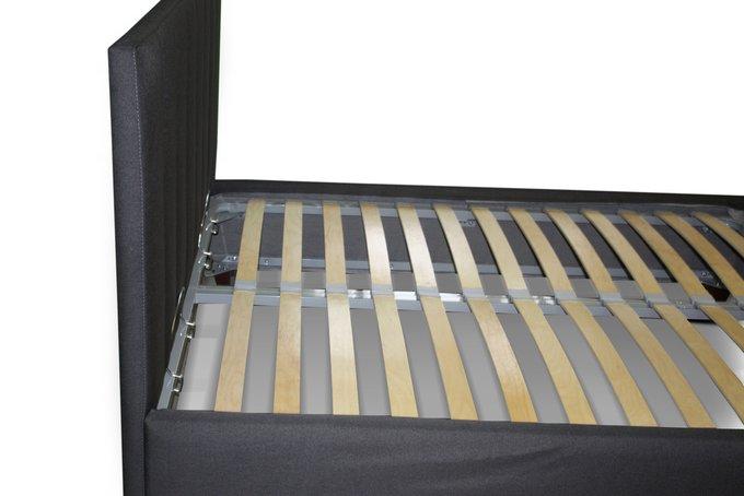 Кровать Клэр черного цвета 200х200 с ящиком для хранения