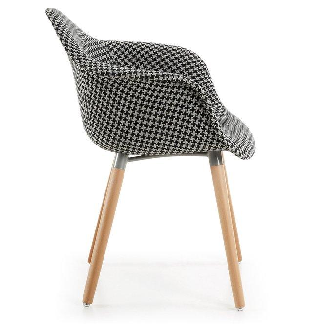 Кресло Kenna черно-белого цвета