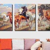 Декоративная картина на холсте: Дикие лошади
