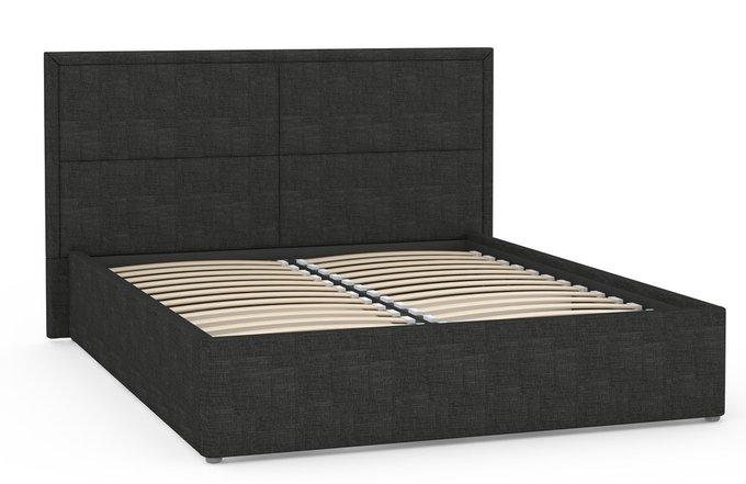 Кровать Прага черного цвета с ортопедическим основанием 160х200