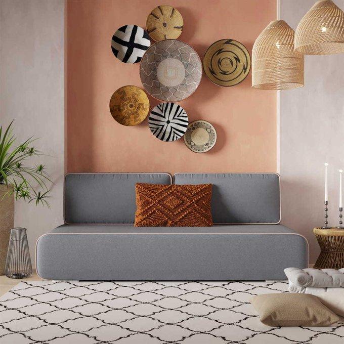 Диван-кровать Рокки серого цвета