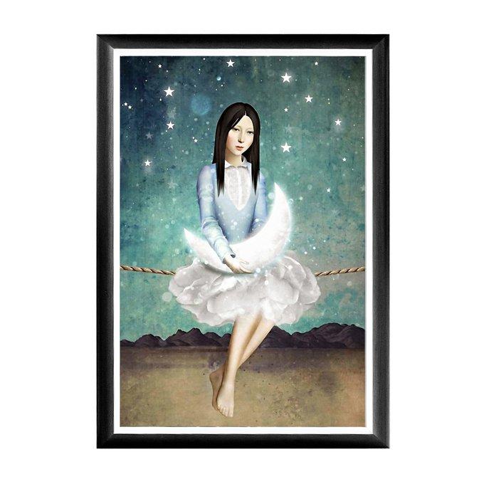 Арт-постер Небесные качели в раме из полистирола