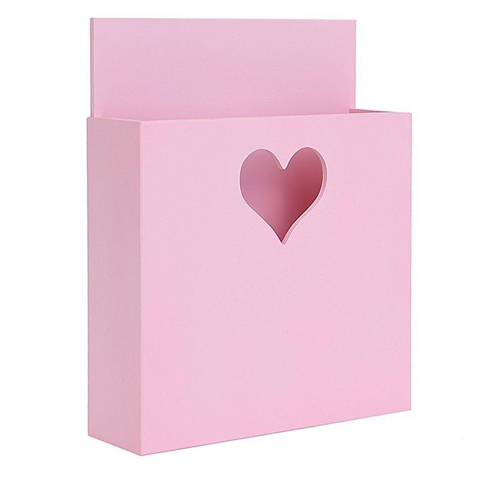 Карман для книг розовый с сердечком