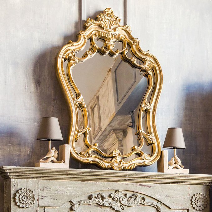 Настенное зеркало Лорен с двухъярусной окантовкой