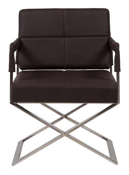 Кресло Aster X Chair Темно-коричневая Кожа
