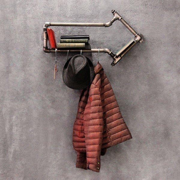Вешалка из металла Стрелка с крючками для одежды