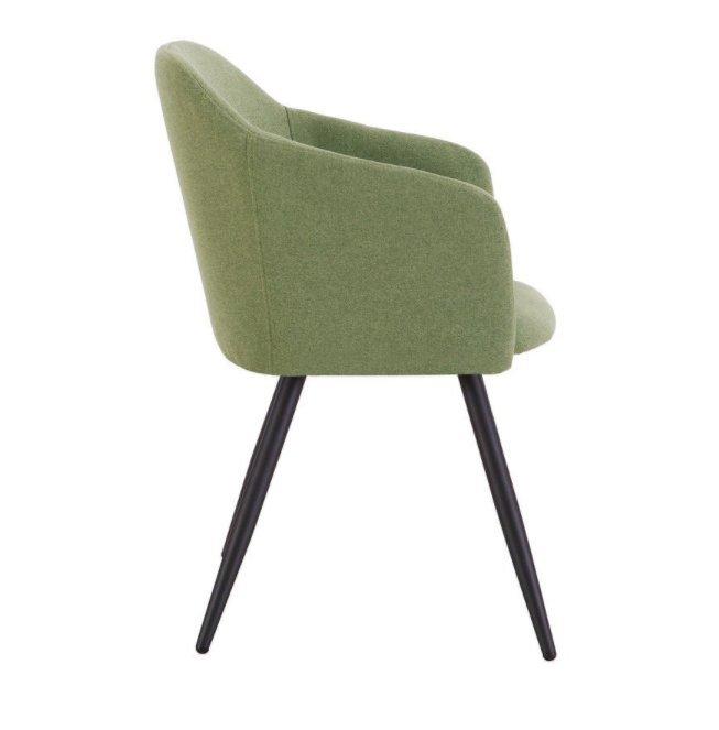 Набор из двух стульев Уолтер с обивкой из ткани зеленого цвета