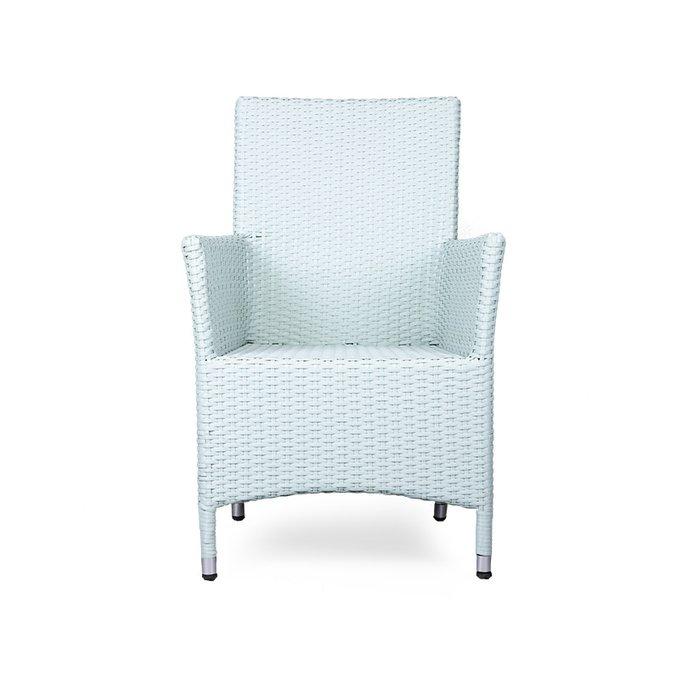 Кресло Rattan белого цвета