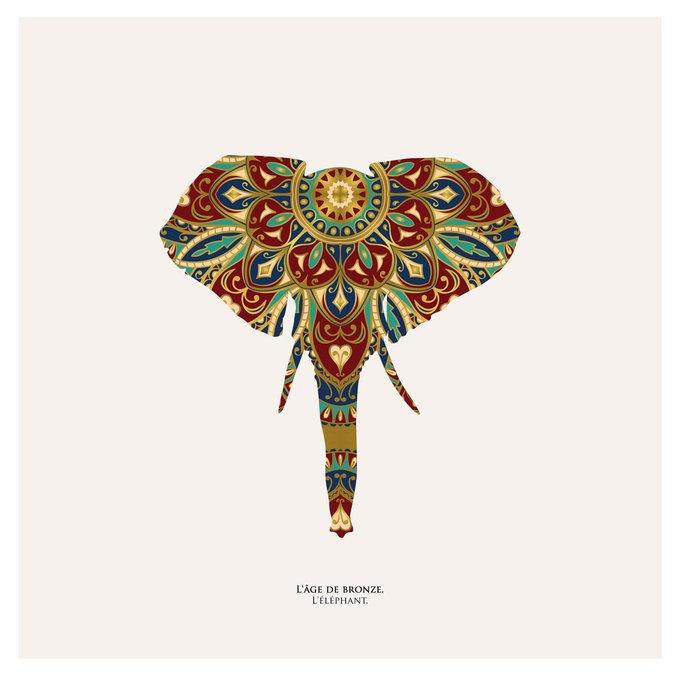 """Картина """" Бронзовый век, слон"""""""