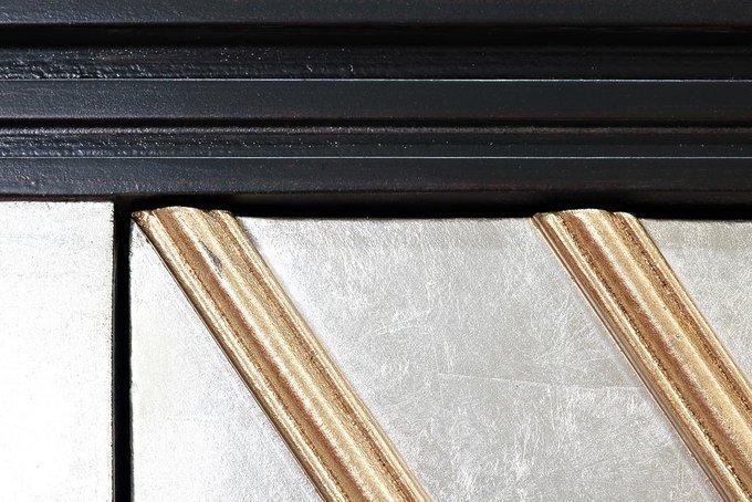 Барный шкаф серебристо-черного цвета
